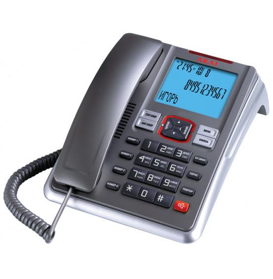 Телефон проводной Akai AT-A19TS(BS,CJ)