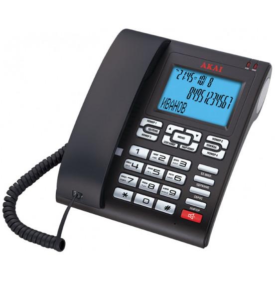 Телефон проводной Akai AT-A25BS(CJ)