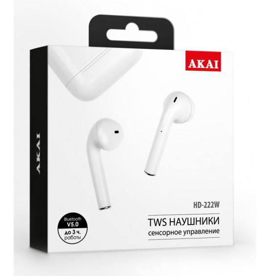 Наушники беспроводные с функцией Bluetooth Akai HD-222W Ver.2