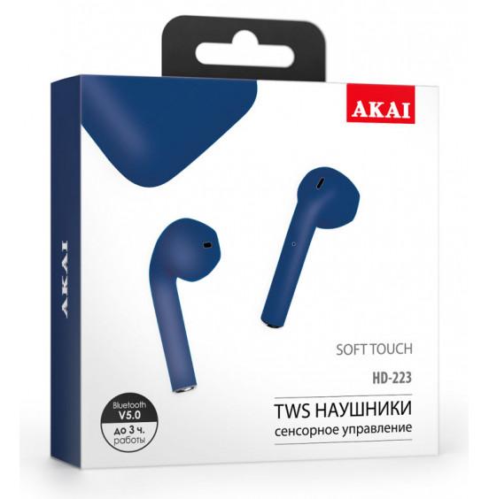 Наушники беспроводные с функцией Bluetooth Akai HD-223DB/LB/SP